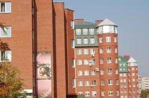 Комплексная застройка по ул. Дружинина. ( оф. здание Дружинина. 47, жилые дома Дружинина, дома 43,41.
